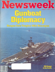 1983 8 1 Newsweek GUNBOAT DIPLOMACY NICARAGUA Screen Shot 2015-03-27 at 3.40.39 PM
