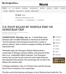 1984 1 12 Honduras pilot killed NYT hostile fire Screen Shot 2015-01-04 at 11.27.43 AM