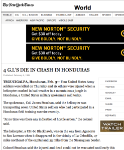 1984 2 3 Four GI's killed six wounded in Honduras NYT Screen Shot 2015-01-17 at 11.17.56 PM