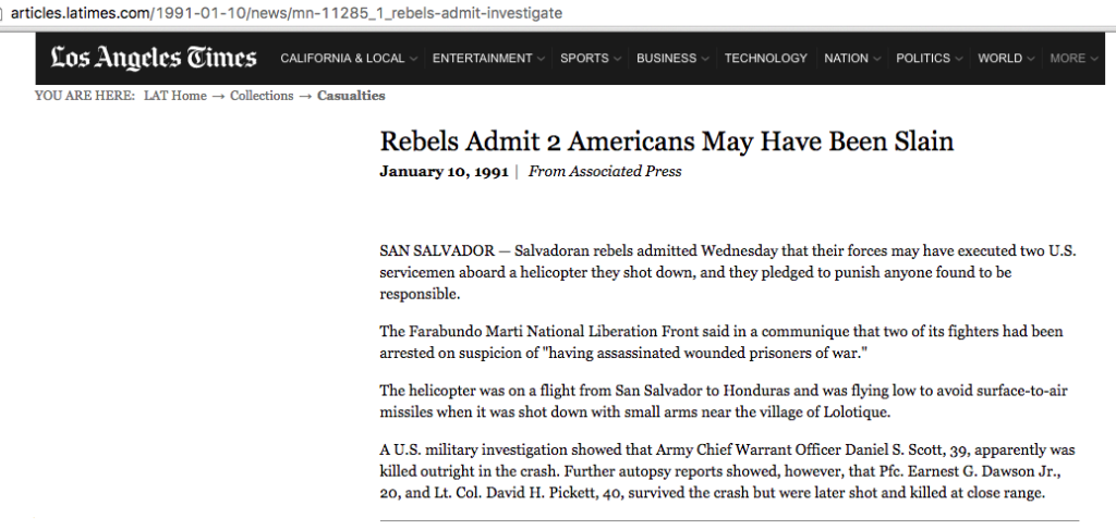 1991 1 10 LA Times Rebels Admit 2 American May Have Been Slain