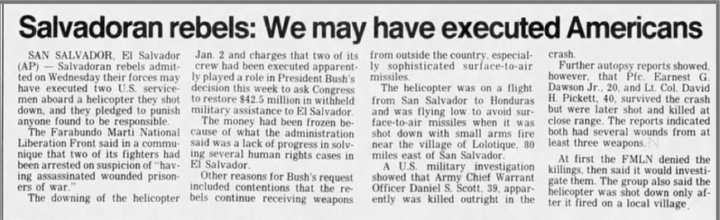 1991 1 10 Reno Gazzette Salvo rebels we may have executed Americans