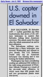 1991 1 3 Bowling Green KY Daily News US copter downed in El Sal