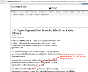 1991 1 3 NYT Copter shot down in salvador