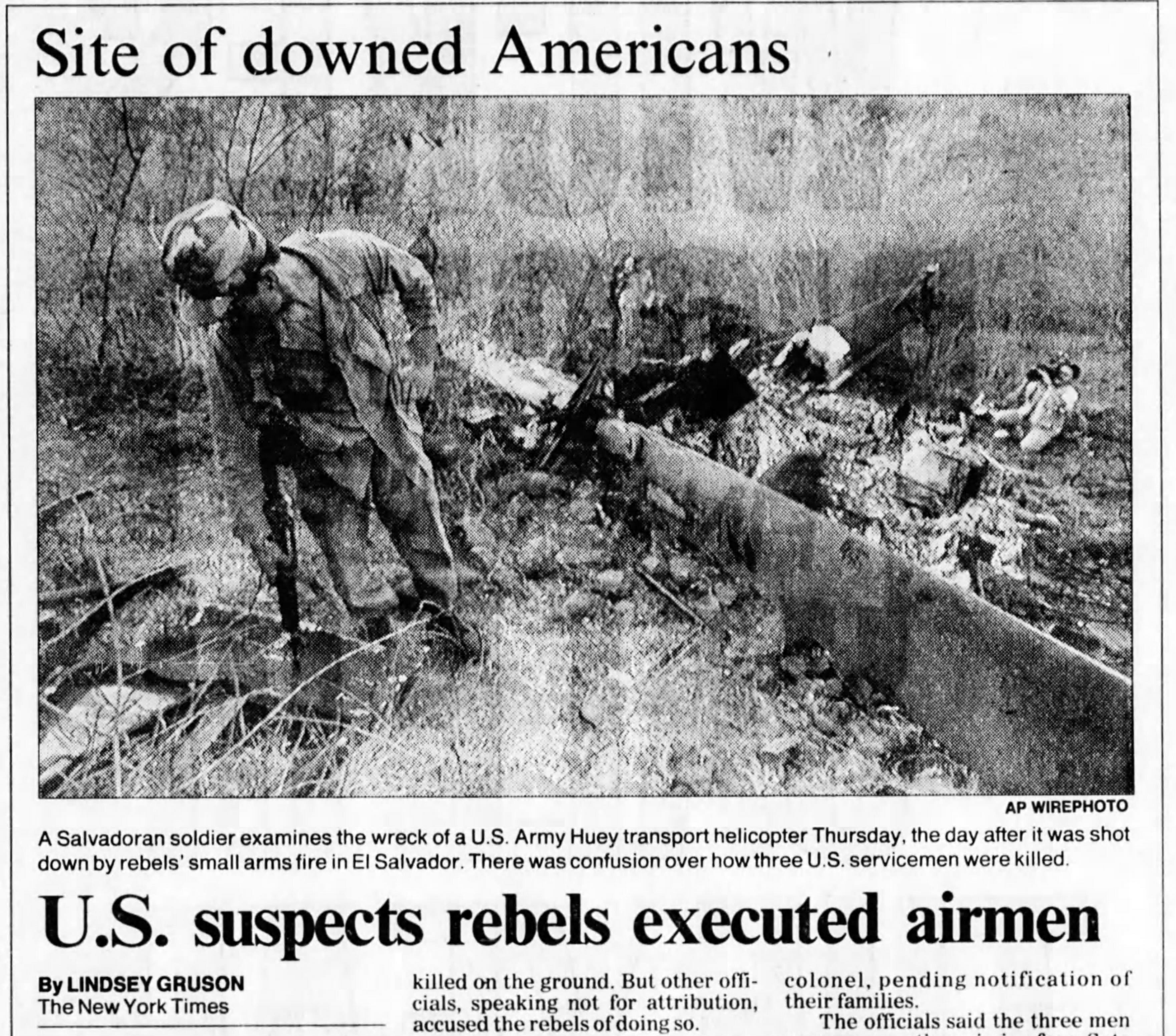 1991 1 4 San Bern County Sun U.S. suspects rebels executed airmen