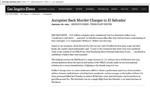1991 1 6 LA Times Autopsies Back Murder charges in El Sal