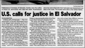 1991 1 7 Clarion Ledger US calls for justice in El Sal