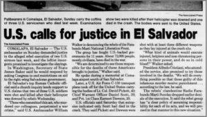 1991 1 7 Clarion Ledger US calls for justice in El Sal