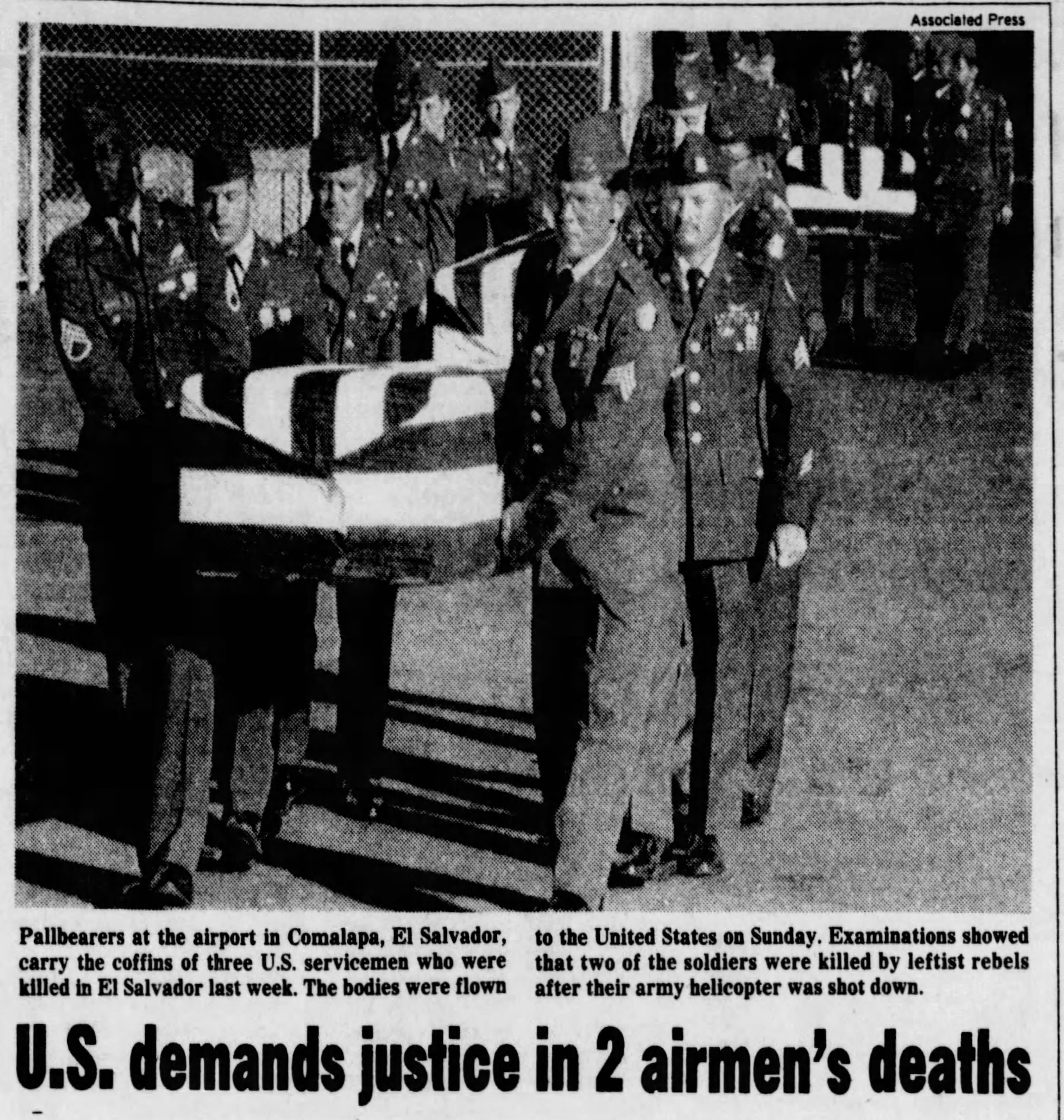 1991 1 7 Des Moines Register US demands justice in 2 airmen's death