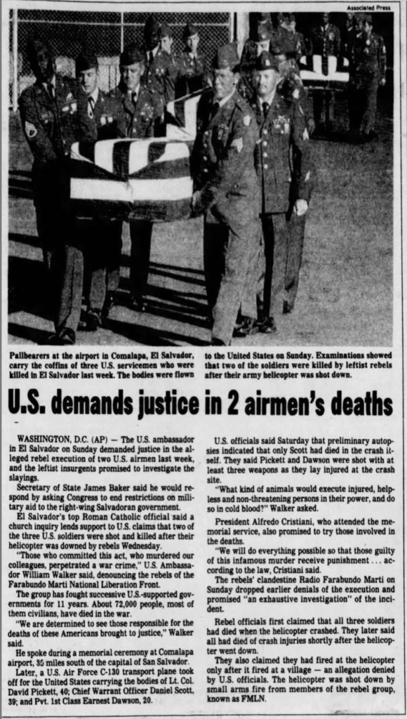1991 1 7 Des Moines Register US demands justice in 2 airmen's deaths 1