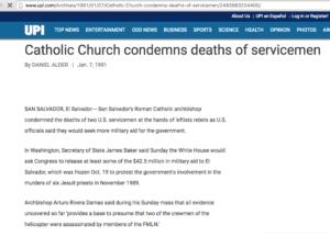 1991 1 7 UPU Catholic church condemns deaths of servicemen