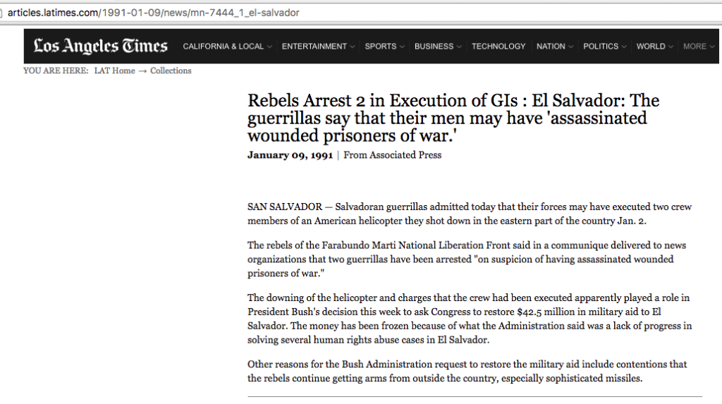 1991 1 9 LA Times Rebels arrest 2 in Execution of GI's