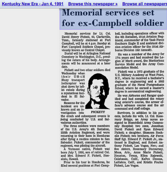 1991 2 4 Kentucky New Era Memorial services set for ex-Campbell soldier