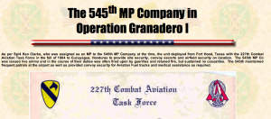 545th MP Co Grenadero I 1984 hostile fire Imminent Danger Screen Shot 2015-03-27 at 3.18.01 PM