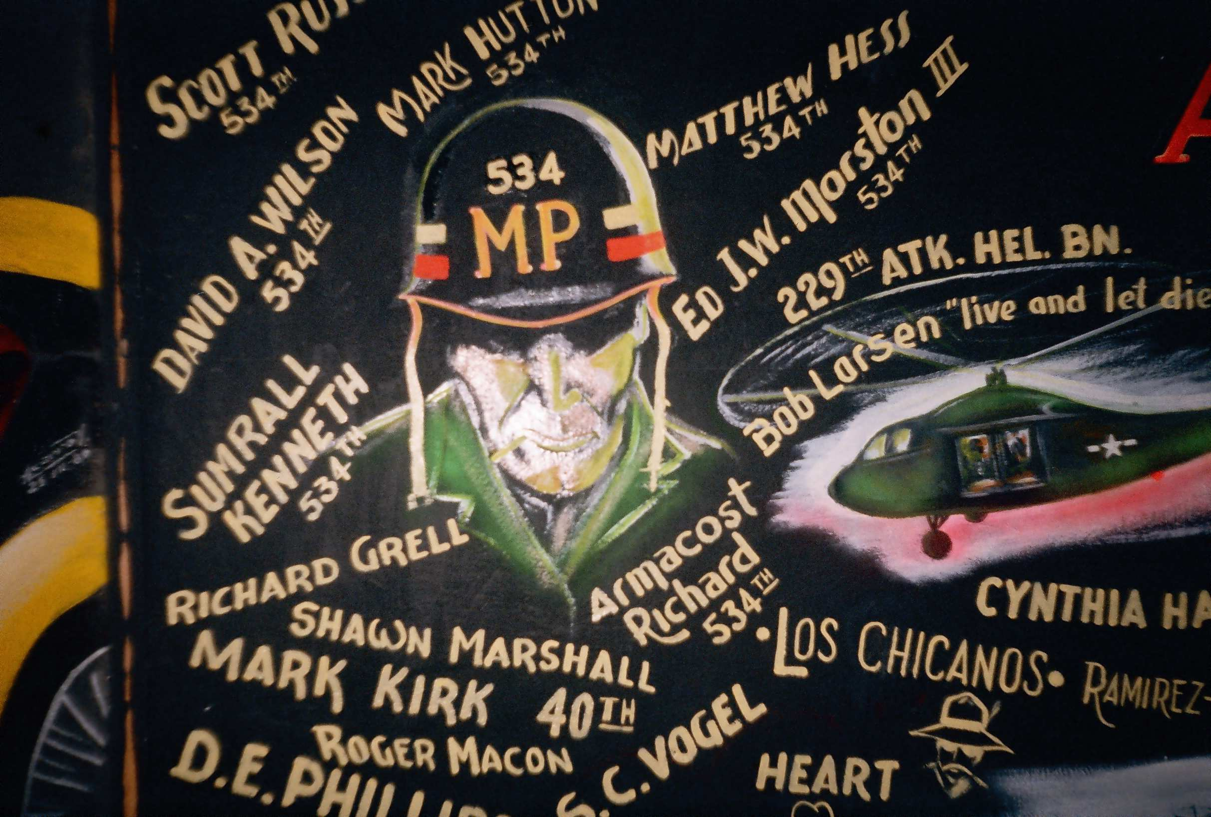 534th MP Co wall mural