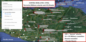 Hondo Contra war terrorist:military attacks