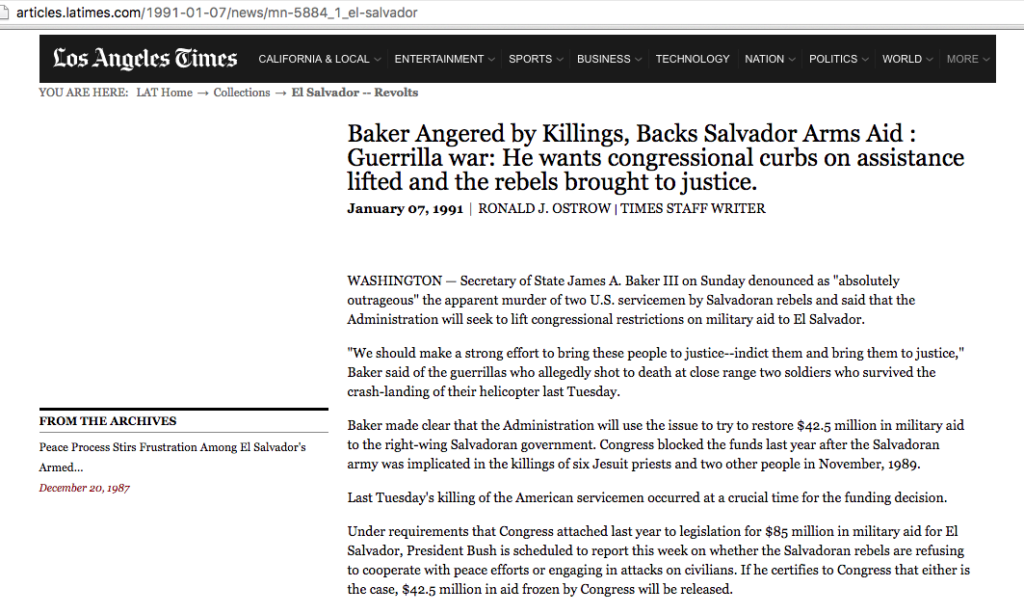 1991 1 7 LA Times Baker angered by Killings 1